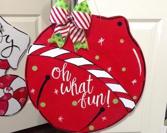 Jingle Bell Christmas Door Sign
