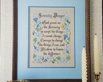 Serenity Prayer Counted Cross Stitch Instruction Booklet