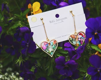 Hanging Heart with Colorful Shells