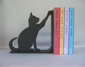High Five Cat Silhouette Bookend - 19.95