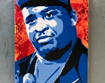Patrice O'Neal Painting on Stretched Canvas - pre made and ready to ship - pictures show actual item you are purchasing.