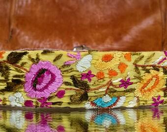 Secret Garden Boho Threaded Clip on Purse Strap; Woven Purse Strap; Detachable Purse Strap; Replacement Purse Strap; Guita Purse Strap