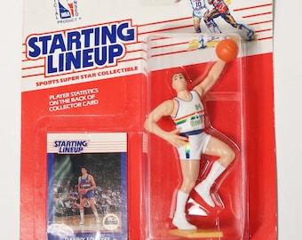 Kenner Starting Lineup 1988 Danny Schayes Denver Nuggets Basketball Figure, NIP