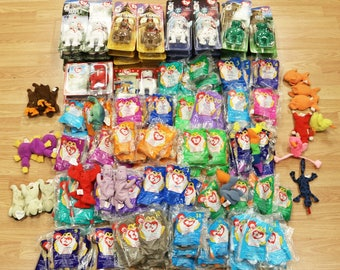Lot of 198 McDonald's TY Beanie Babies New,  Retired, International Bears, Iggy