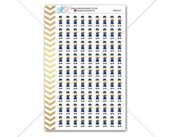 Brunette Boy Scout Stickers for your planner, agenda, calendar and more! Functional planner stickers to help organize your life #SQ00003