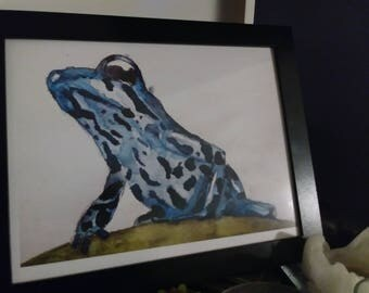 Poisonous Dart Frog Watercolor Print | Amphibian Art | Animal Watercolor Painting | Children's Bedroom Art