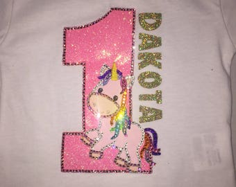 Custom Personalized age unicorn shirt