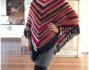 Crochet poncho Boho