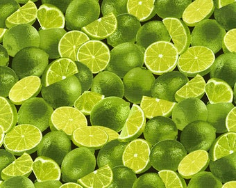 Limes green cotton fabric by Timeless Treasures