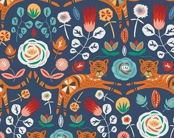 Tallinn by Jessica Swift of Art Gallery fabrics, Tigris Indigo cotton fabric