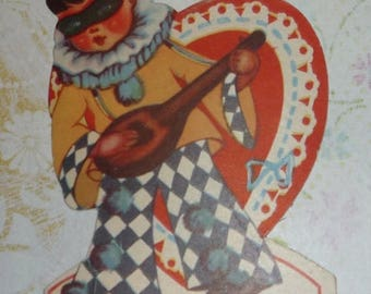 ON SALE till 7/28 Boy in Disguise Masquerade Vintage Valentine Card