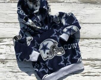 Dallas Cowboys Hoodie, fleece hoodie, children sports clothing, NFL print Hoodie, Dallas Cowboys children Pullover hoodie, boy/girl hoodie