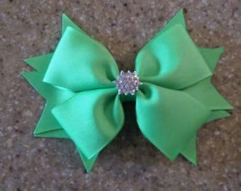 Neon Green Double Tuxedo Bow With Rhinestone Tuxedo Bow Lavender Tuxedo Bow Purple Bow With Spikes