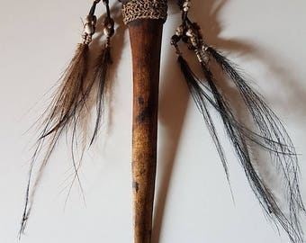 SALE15% Papua New Guinea authentic dagger, Asmat people dagger, collector's item, Anthropology, Length 28 cm