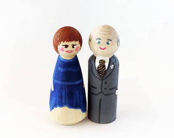 Wedding Anniversary Figurine / Wedding Anniversary Gift / Custom Wedding / Cake Toppers Figures- Personalize