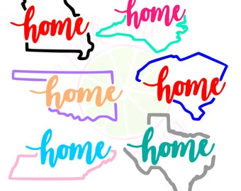 Home State Vinyl Decal | Car Decal | Yeti Cup Decal | State Decal | Laptop Decal | Planner