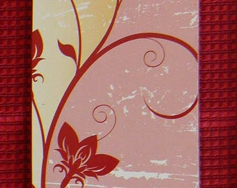 Bookmark, floral theme - Dimensions 17 x 5 cm