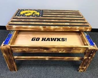 Iowa Hawkeyes Coffee Table
