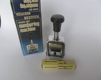 Manual Numbering Machine - Hand Machine - Bostitch Model  607