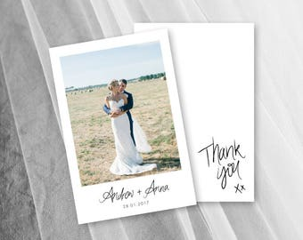 Thank You Cards Wedding Photo Card Digital Download Printable