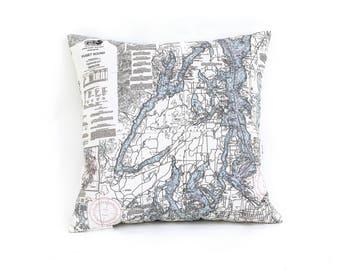 Puget Sound, WA Indoor/Outdoor Nautical Pillow
