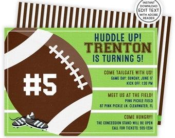 football invitation etsy - Football Birthday Party Invitations