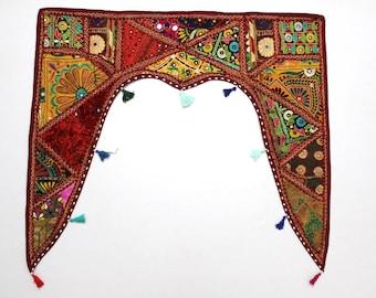 Handmade Window Door Valance Interior Decor Ethnic Gypsy Hippy Hippie Toran Pelmet Topper Drapery Top Hanging Tent Bohemian Art L789