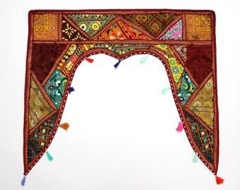 Handmade Window Door Valance Interior Decor Ethnic Gypsy Hippy Hippie Toran Pelmet Topper Drapery Top Hanging Tent Bohemian Art L894