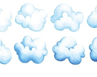 Cloud washi tape sticker