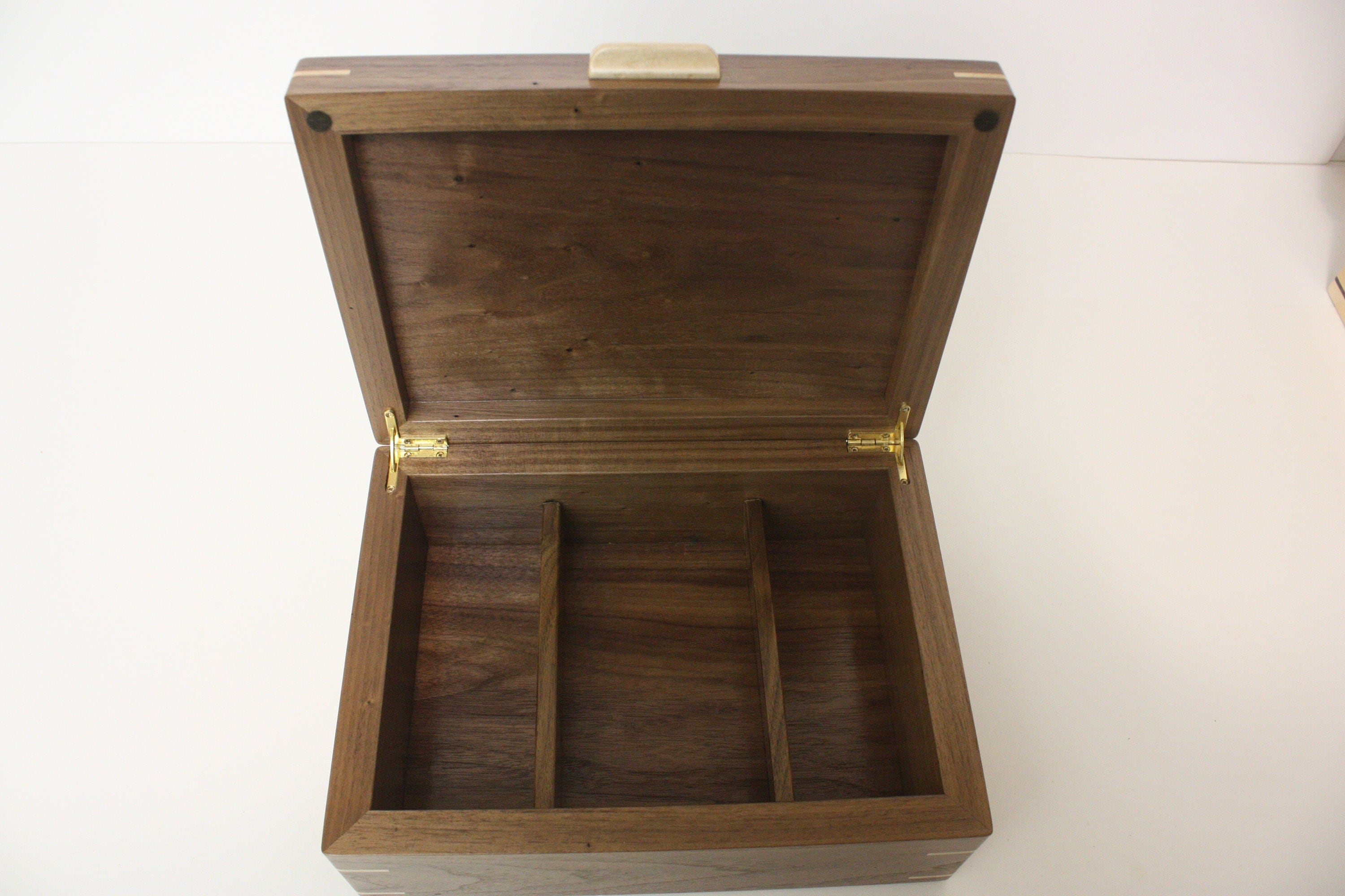 Large Black Walnut Box with Dividers