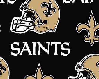 NFL New Orleans Saints Football Sports Pillowcase Dress & Fabric Hair Bow Clip