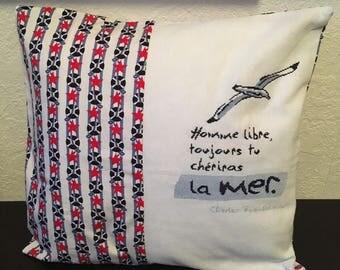 Embroidered cross stitch cushion