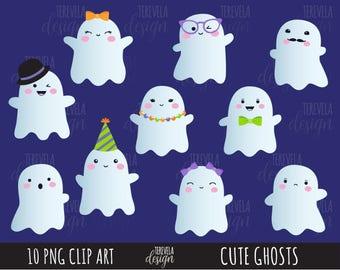 50% SALE HALLOWEEN clipart, ghost clipart, kawaii halloween clipart, commercial use, kawaii clipart, kawaii ghosts clipart, cute clipart