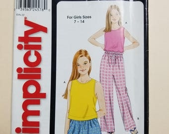 Simplicity Pattern for a Child Sizes 7-14  #9537