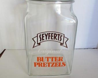 Seyfert's Original Butter Pretzel Jar Counter Display