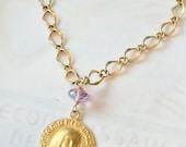 Bracelet - Mary of Magdala - Amethyst - 18K Gold Vermeil