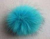 15cm Colors Real Raccoon Fur Pom Pom Balls Knit Hat Pompoms with snap Removable