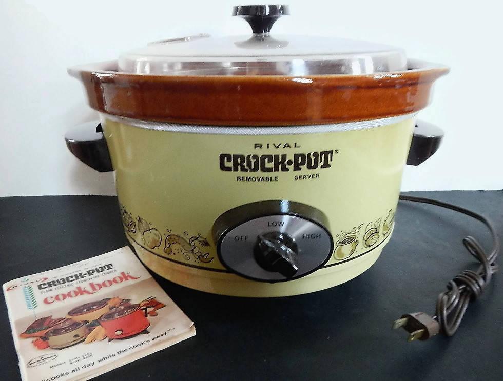 Vintage Rival Crock Pot Or Slow Cooker Model 3350 1 Works