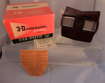 Vintage Boxed Sawyers View Master Model E 1950s VGC  original paperwork and box