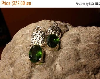 Holiday SALE 85 % OFF Tourmaline  Earrings Gemstone  .925 Sterling  Silver