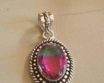Holiday SALE 85 % OFF Amitrine  Pendant Gemstones  . 925 Sterling Silver