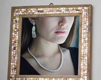 Mirror with Murano glass mosaic frame