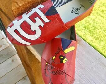 St. Louis Cardinals Painted Shoes