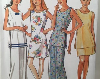 Tunic Dress, New Look 6510, Simplicity 6510, Sewing Pattern, Long Skirt, Round Neck Tunic, Slit Side Tunic, Short Skirt,Misses Dress Pattern