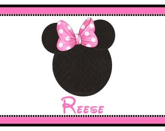Minnie Mouse laminated placemat- Disney placemat- personalized