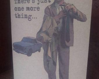 Detective Columbo Greeting - Birthday Card - Handmade - Recycled