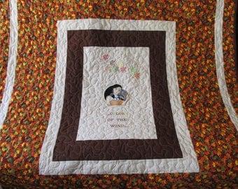 """Indian girl quilt - Pocahontas - Indian Girl  - 56"""" x 62"""" - Pocahontas quilt - Larger quilt"""
