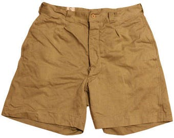 1950's  vintage French army canvas shorts
