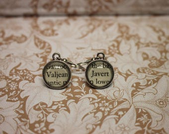 Javert ~ Valjean Earrings ~ Les Miserables ~ Victor Hugo ~ Les Mis~