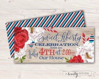 Fourth of July Invitation - Printable - 4th of July Invite